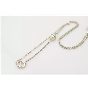 Christian Dior Pendant Necklace Faux Pearl